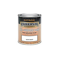 Rust-Oleum White - Satin Paint - 250ml