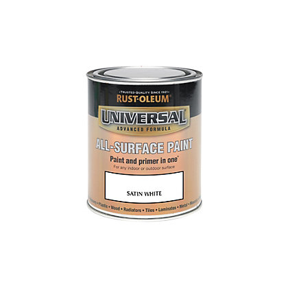 Image for Rust-Oleum White - Satin Paint - 250ml from StoreName