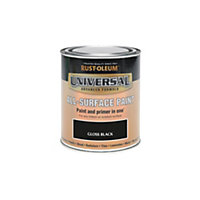 Rust-Oleum Black - Gloss Paint - 250ml