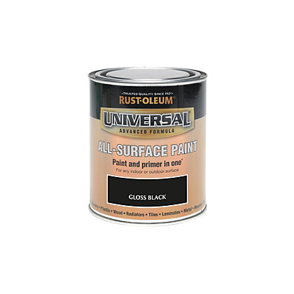 Image for Rust-Oleum Black - Gloss Paint - 250ml from StoreName