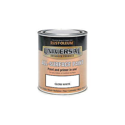 Image for Rust-Oleum White - Gloss Paint - 250ml from StoreName