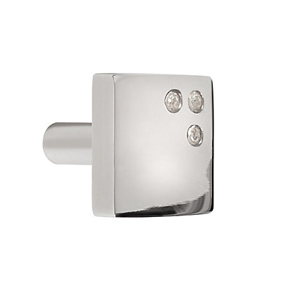 Image for Square Diamante Cabinet Knob- Polished Nickel from StoreName