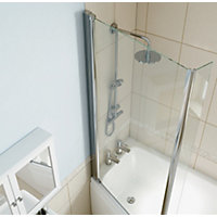 Olney Symmetrical Shower Bath Screen - Left Hand