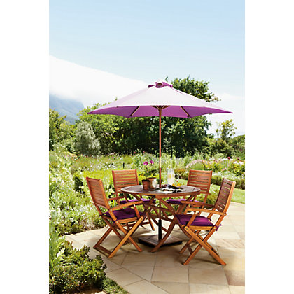 Image for Peru Round 4 Seater Dining Set - Armchairs from StoreName