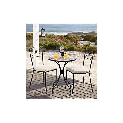 Lucca bistro garden furniture set for Outdoor furniture homebase