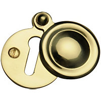 Covered Door Escutcheon - Brass
