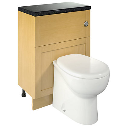 Image for Canterbury Bathroom WC Unit and WC - Oak from StoreName
