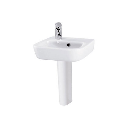Image for Facile Left Hand Basin and Full Pedestal - 40cm from StoreName