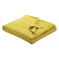 Habitat Havill Yellow Throw