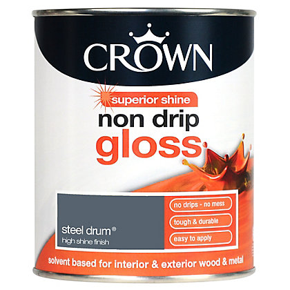 Image for Crown Steel Drum - Non Drip Gloss Paint - 750ml from StoreName