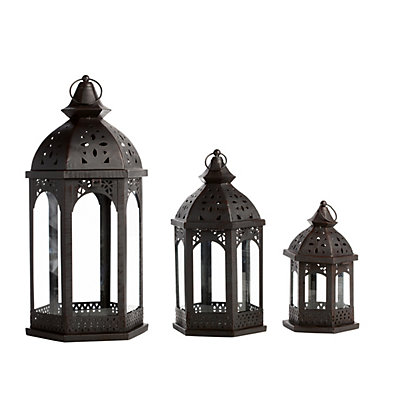 Image for Black Moroccan Lanterns - 3 Pack from StoreName