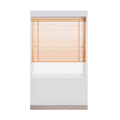 Image for Harrison Drape Oak Wood 35mm Venetian Blind - 90cm from StoreName