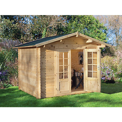 Image for Forest Bradnor Log Cabin - 7ft 2in x 7ft 2in from StoreName
