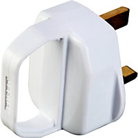 13A Fused Plug With Pull Handle - White