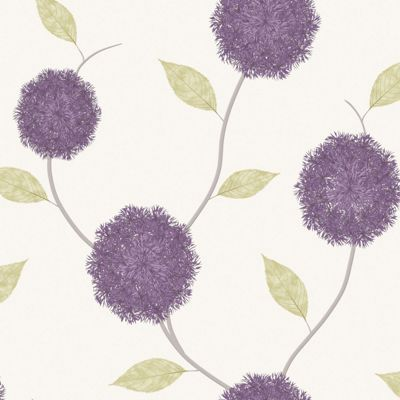 Wallpaper Damask textured & floral wallpaper Homebase