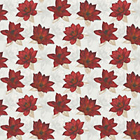 Home Of Colour - Waterlily - Wallpaper - Flame Red