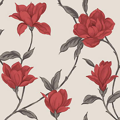 Image for Home Of Colour - Ava - Wallpaper - Flame Red from StoreName