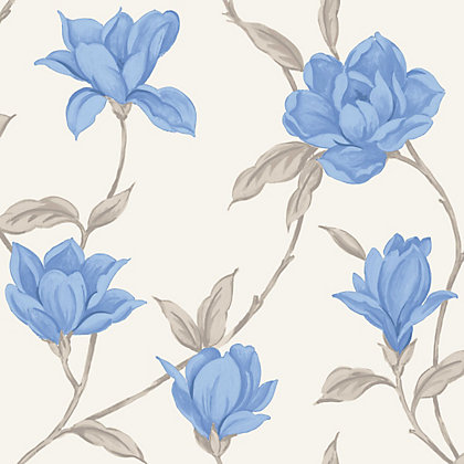Image for Home Of Colour - Ava - Wallpaper - Marina Blue from StoreName