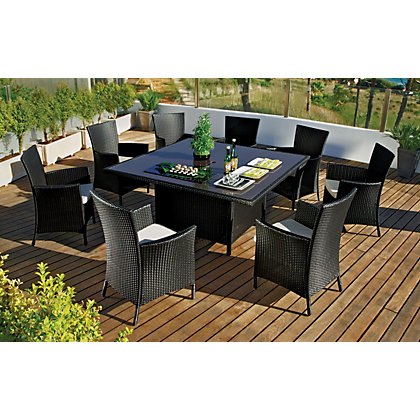 Bali 8 Seater Rattan Effect Patio Furniture Set At Homebase Be Inspired And Make Your House A