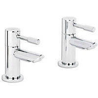 Evoke Bath Taps - Chrome - 2 Pack