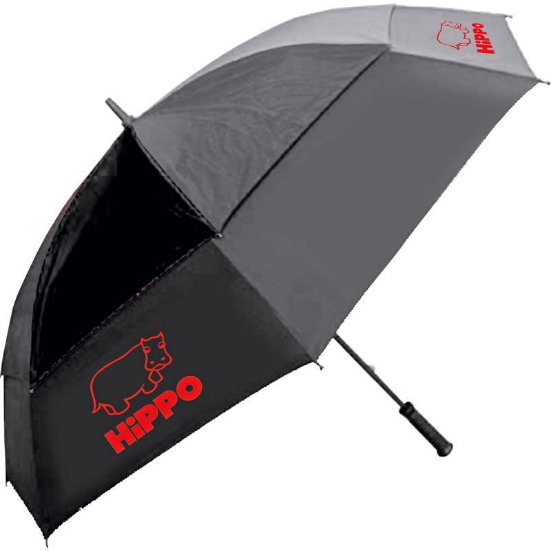 Hippo wind resistant golf umbrella black for Wind resistant material