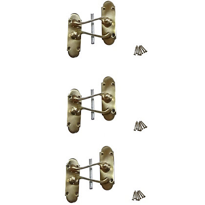Image for Constable Lever Latch - Polished Brass - 3 Pack from StoreName