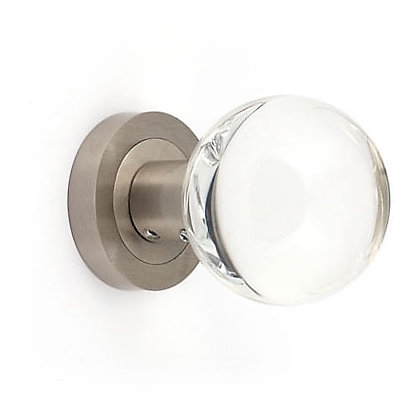 Image for Acrylic Mortice Knob - Brushed Nickel from StoreName