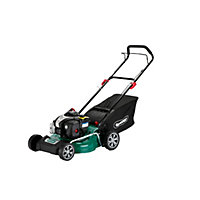 Qualcast 125cc Self-propelled Petrol Rotary Lawn Mower - 46cm