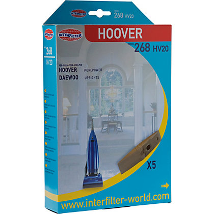 Image for Hoover PurePower HV20 Pack of 5 Vacuum Cleaner Dust Bags. from StoreName