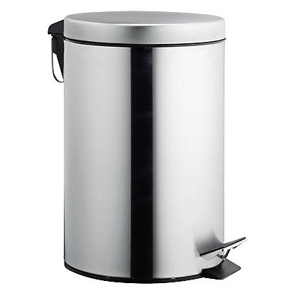Image for Pedal Bin - Matt Stainless Steel - 12L from StoreName