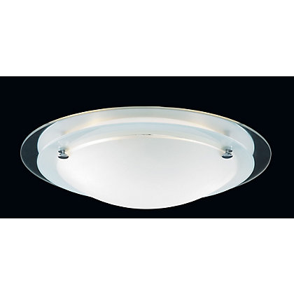 Image for Newport Large Flush Light - Frost Glass from StoreName