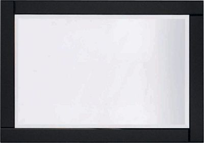 Large Glass Bevelled Wall Mirror - Black.