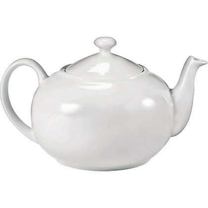 Image for Living 6 Cup Traditional Tea Pot - White from StoreName