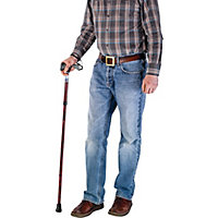 Adjustable Soft Gel Handle Folding Walking Stick.