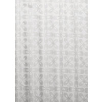 Optical Geo Shower Curtain - White