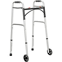 Folding Walking Frame with Wheels.