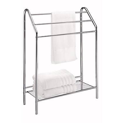 Image for Chrome Bathroom Towel Stand - Atlanta from StoreName
