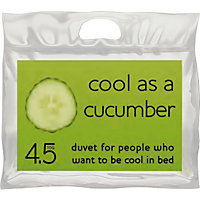 Cool as a Cucumber 4.5 Tog Duvet - Double.