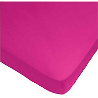 ColourMatch Funky Fuchsia Fitted Sheet - Single.