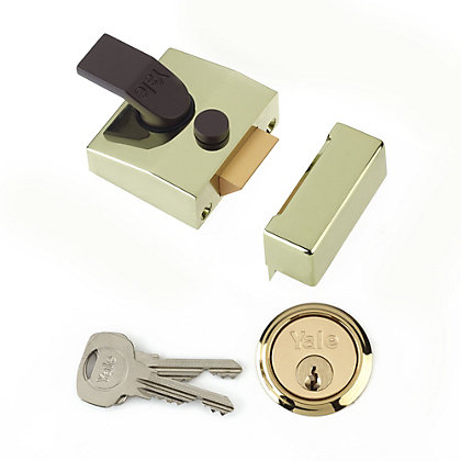 Image for Yale 85 Deadlocking Nightlatch 40mm - Brass from StoreName