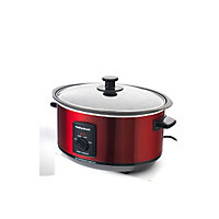 Morphy Richards 48702 3.5L Sear & Stew Slow Cooker - Red.