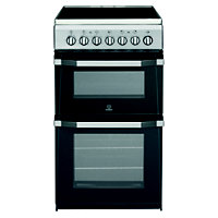 Indesit IT50C1S/ Freestanding Cooker - Silver