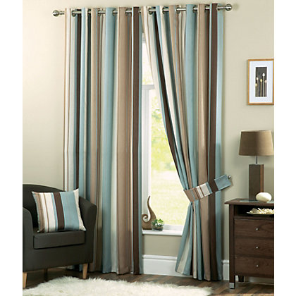 Image for Dreams and Drapes Whitworth Duck Egg Lined Curtains - 90 x 72in from StoreName