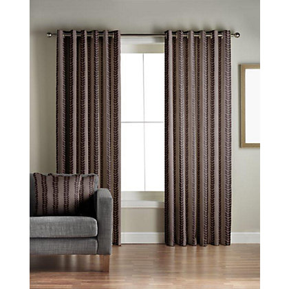 Image for Jeff Banks Sierra Chocolate Lined Curtains - 66 x 90in from StoreName