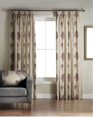 Whiteheads Mozart Aubergine Lined Curtains - 46 x 72in