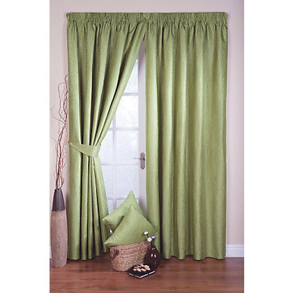 Image for Whiteheads Ripple Cactus Lined Curtains - 65 x 54in from StoreName