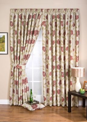 Whiteheads Petula Chintz Lined Curtains - 66 x 72in