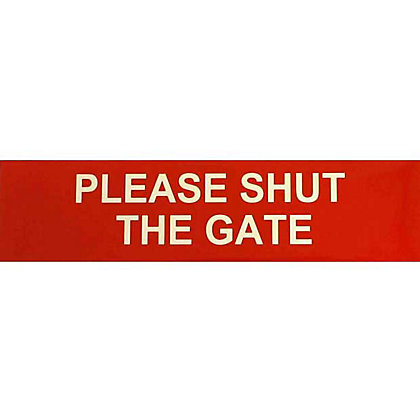 Image for Please Shut The Gate Sign - Red/White from StoreName