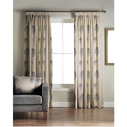 Image for Whiteheads Mozart Denim Lined Curtains - 66 x 90in from StoreName