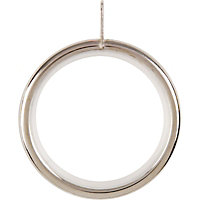 Satin Steel 28mm Curtain Rings 4 Pack